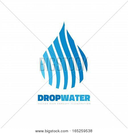 Drop clean water - vector business logo template concept illustration. Abstract creative sign. Design element.