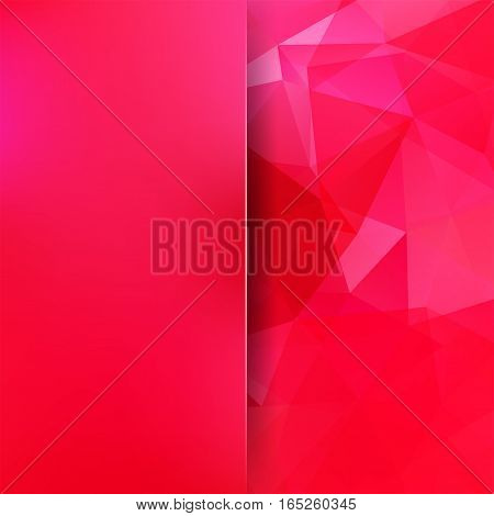 Abstract Background Consisting Of Pink, Red Triangles. Geometric Design For Business Presentations O
