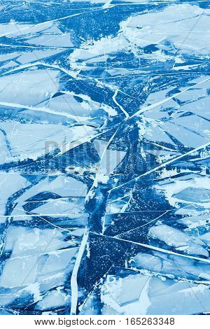 Texture of ice surface ice floe. Winter background