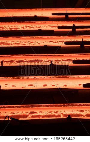 continuous casting of steel. Factory production of steel