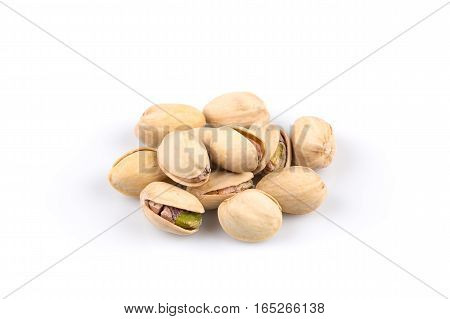 Heap Of Salted Pistachio Nuts