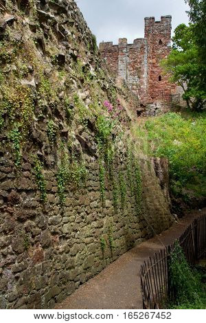 Fragment of an ancient castle. Exeter. Devon. UK