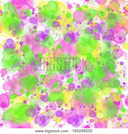 Watercolor seamless pattern.  Watercolor  illustration