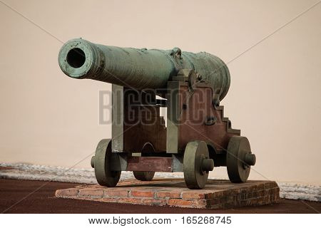 Cannon Near Royal Palace, Official Residence Of The Prince Of Monaco
