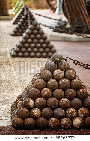 Cannonballs in the Prince Palace of Monaco