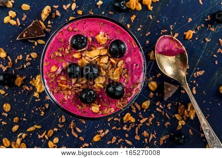 Healthy Dessert Of Yogurt, Fruit Smoothie