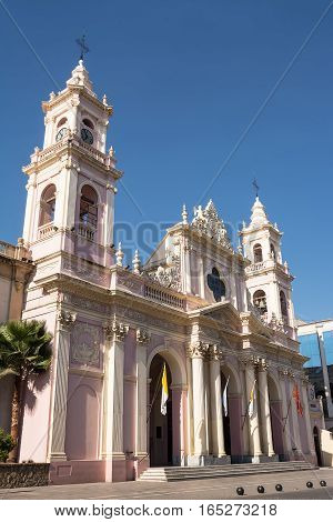 The Cathedral in Salta in a sunny day (Argentina)
