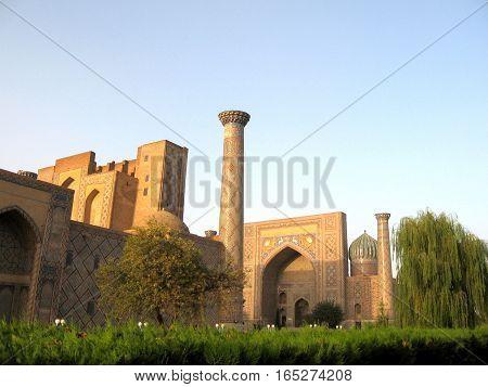 Historic architectural ensemble Registan in Samarkand Uzbekistan September 19 2007