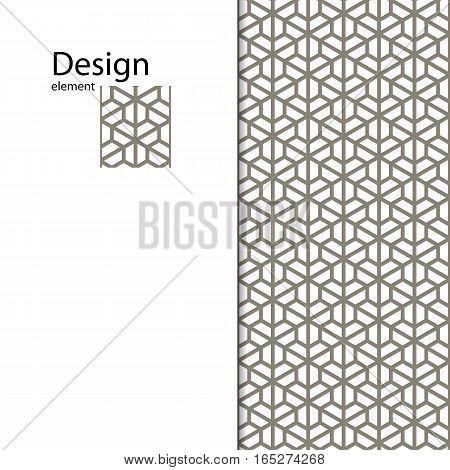 Traditional Arabic seamless ornament. Geometric pattern seamless for your design.  Geometric pattern for laser cutting, interior decoration, graphic design.