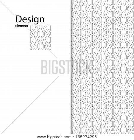 Traditional Arabic seamless ornament. Geometric pattern seamless for your design.  Geometric pattern for laser cutting. Interior decoration, graphic design.