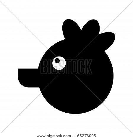 hen farm animal isolated icon vector illustration design