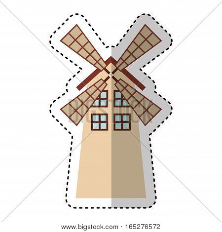 windmill farm isolated icon vector illustration design