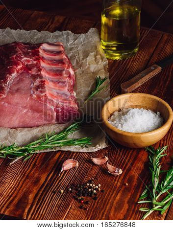 Pork Ribs with Rosemary and Other Spices.