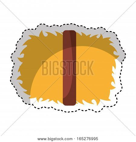 straw block isolated icon vector illustration design