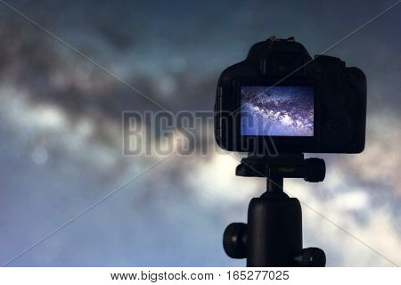 Astrophotography. Space Astronomy Long exposure photography. Long exposure photography.