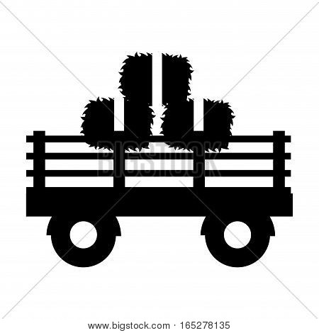 farm carriage isolated icon vector illustration design