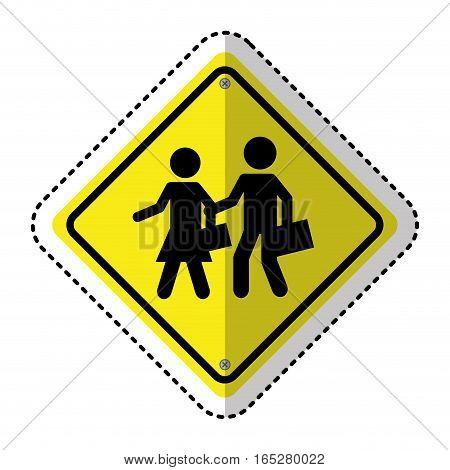 school zone traffic signal information icon vector illustration design