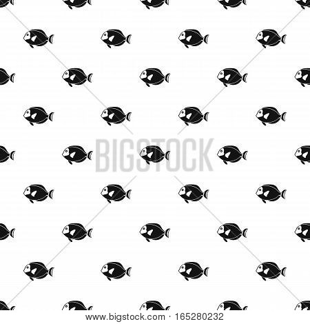 Surgeon fish pattern. Simple illustration of surgeon fish vector pattern for web design