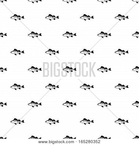 Perch fish pattern. Simple illustration of perch fish vector pattern for web design