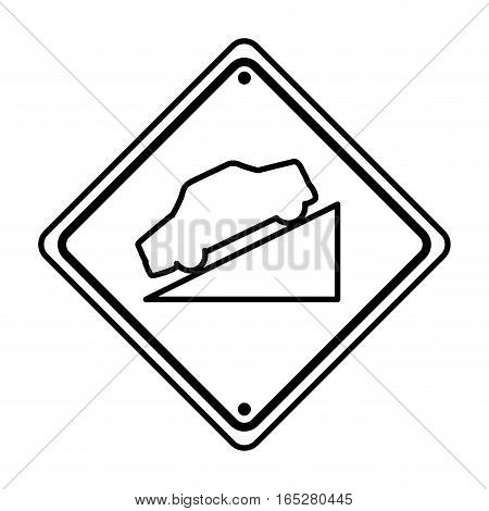 decline traffic signal information icon vector illustration design