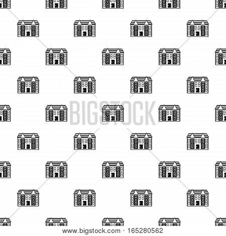 Large two-storey house pattern. Simple illustration of large two-storey house vector pattern for web design