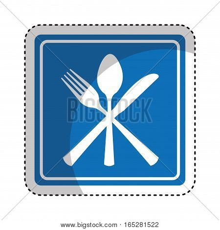 restaurant location traffic signal information icon vector illustration design