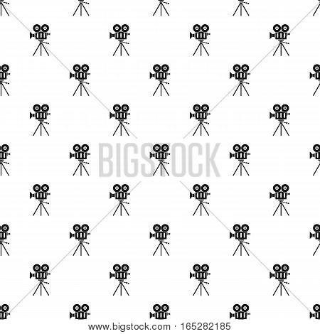 Cinema camera pattern. Simple illustration of cinema camera vector pattern for web design