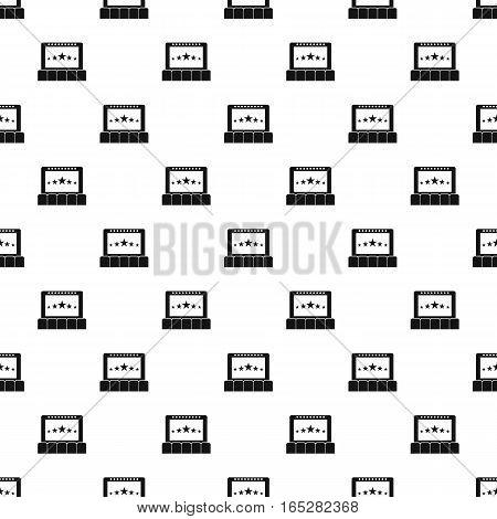 Cinema pattern. Simple illustration of cinema vector pattern for web design