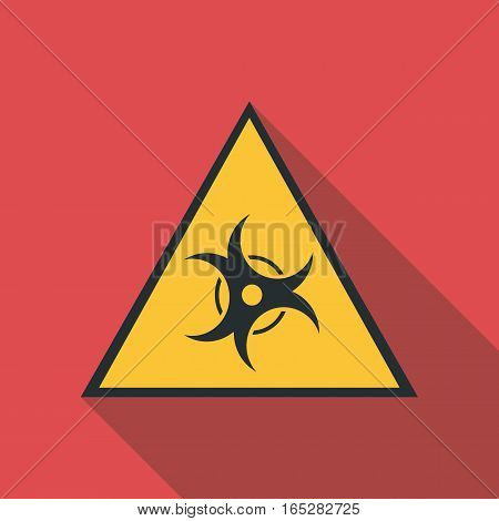 Biological threat icon. Flat illustration of biological threat vector icon for web