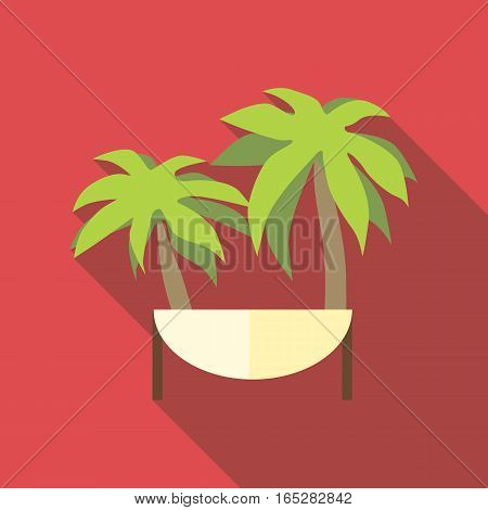 Island icon. Flat illustration of island vector icon for web