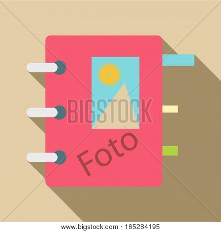 Photo album icon. Flat illustration of photo album vector icon for web