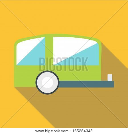 Trailer icon. Flat illustration of trailer vector icon for web