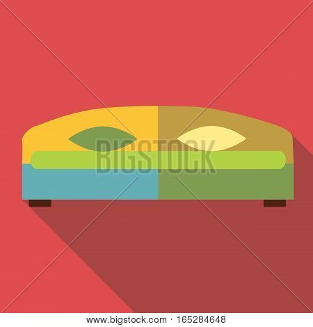 Double bed icon. Flat illustration of double bed vector icon for web