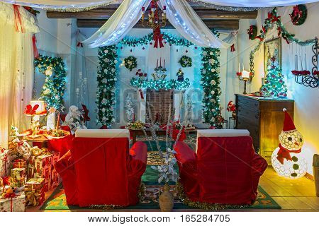 a room of house of  Santa Claus