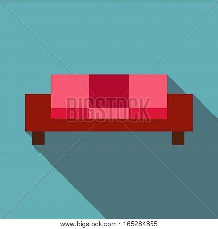 Sofa icon. Flat illustration of sofa vector icon for web