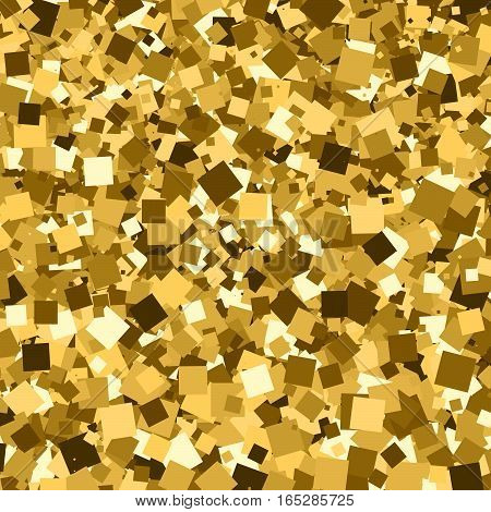 Gold glitter texture. Amber particles color. Celebratory background. Golden explosion of confetti. Vector illustrationeps 10.