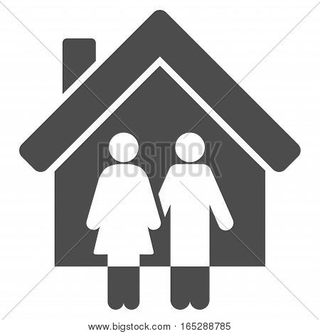 Property vector icon. Flat gray symbol. Pictogram is isolated on a white background. Designed for web and software interfaces.