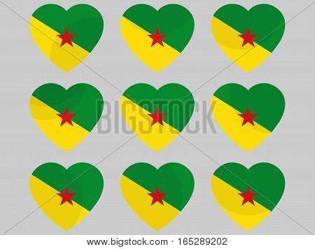 Heart Icons With The Flag Of Suriname. I Love Suriname. Vector Illustration.