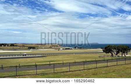 Phillip Island Australia - December 28 2016. The Phillip Island Grand Prix Circuit is a motor racing circuit on Phillip Island Victoria Australia.