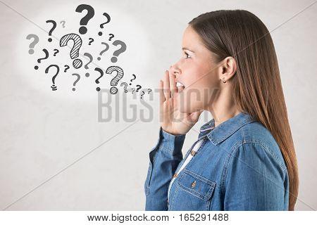 Woman Having Doubts