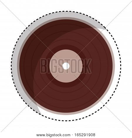 vinyl audio retro icon vector illustration design