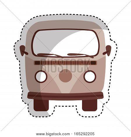 retro van vehicle icon vector illustration design