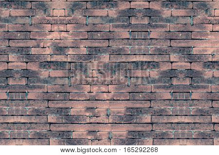 Background of old vintage brick wall use for texture and background.