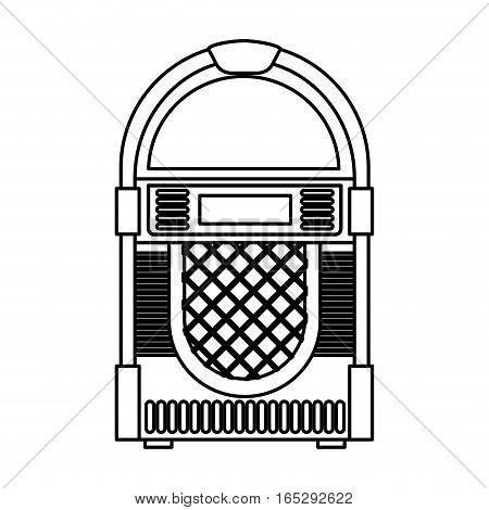 jukebox audio isolated icon vector illustration design
