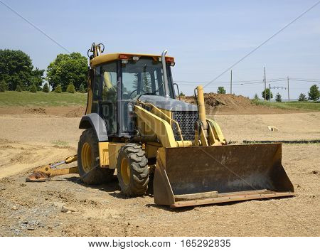 front end loader construction equipment not being used