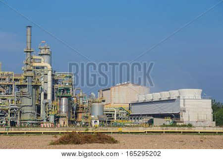 Chemical Industry Plant With Cooling Tower, Thailand