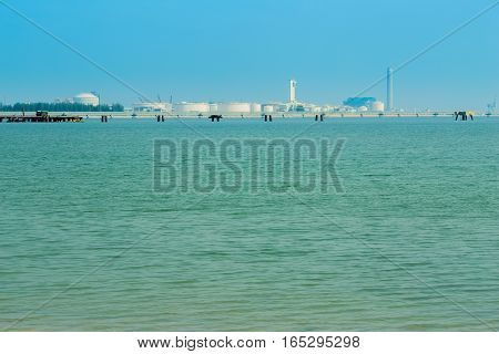 Sea With Electrical Power Plant , Thailand