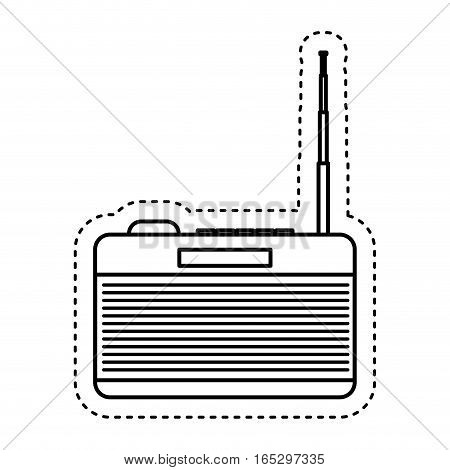 retro radio device isolated icon vector illustration design