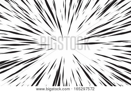 Sun Rays for Comic Books Radial Background Vector