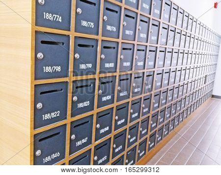 Private Postbox in condominium or apartment building